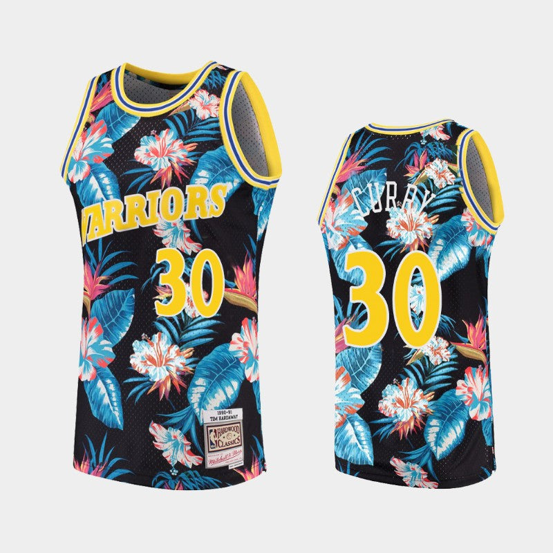 Stephen Curry Floral Warriors Jersey