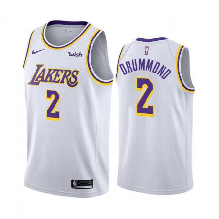 Andre Drummond Lakers White Jersey