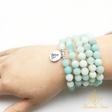 Bracelet tibétain en Amazonite