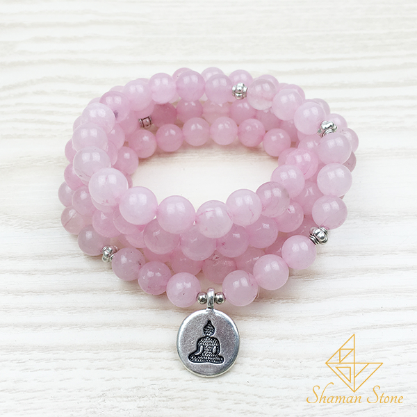 Pierre quartz rose - bracelet