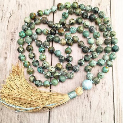 "Mala ""d'expression"" en turquoise africaine"