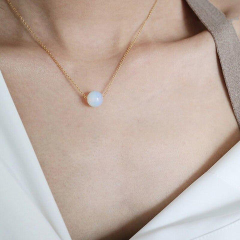 Collier simple pierre naturelle