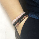 "Pack ""amour de soi"" en Onyx, Rhodonite et Quartz rose"