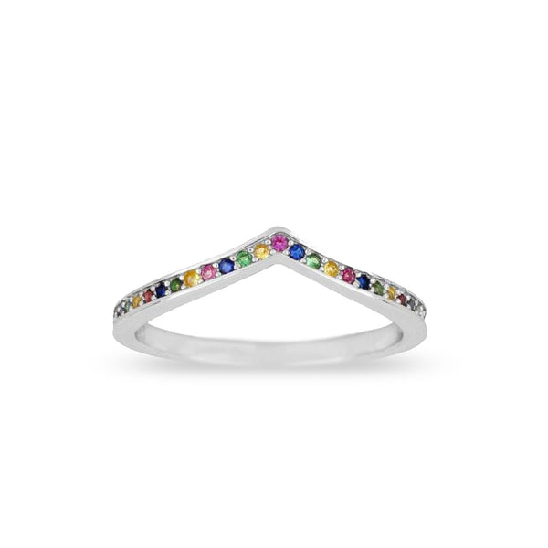 Anillo Chevron Rainbow