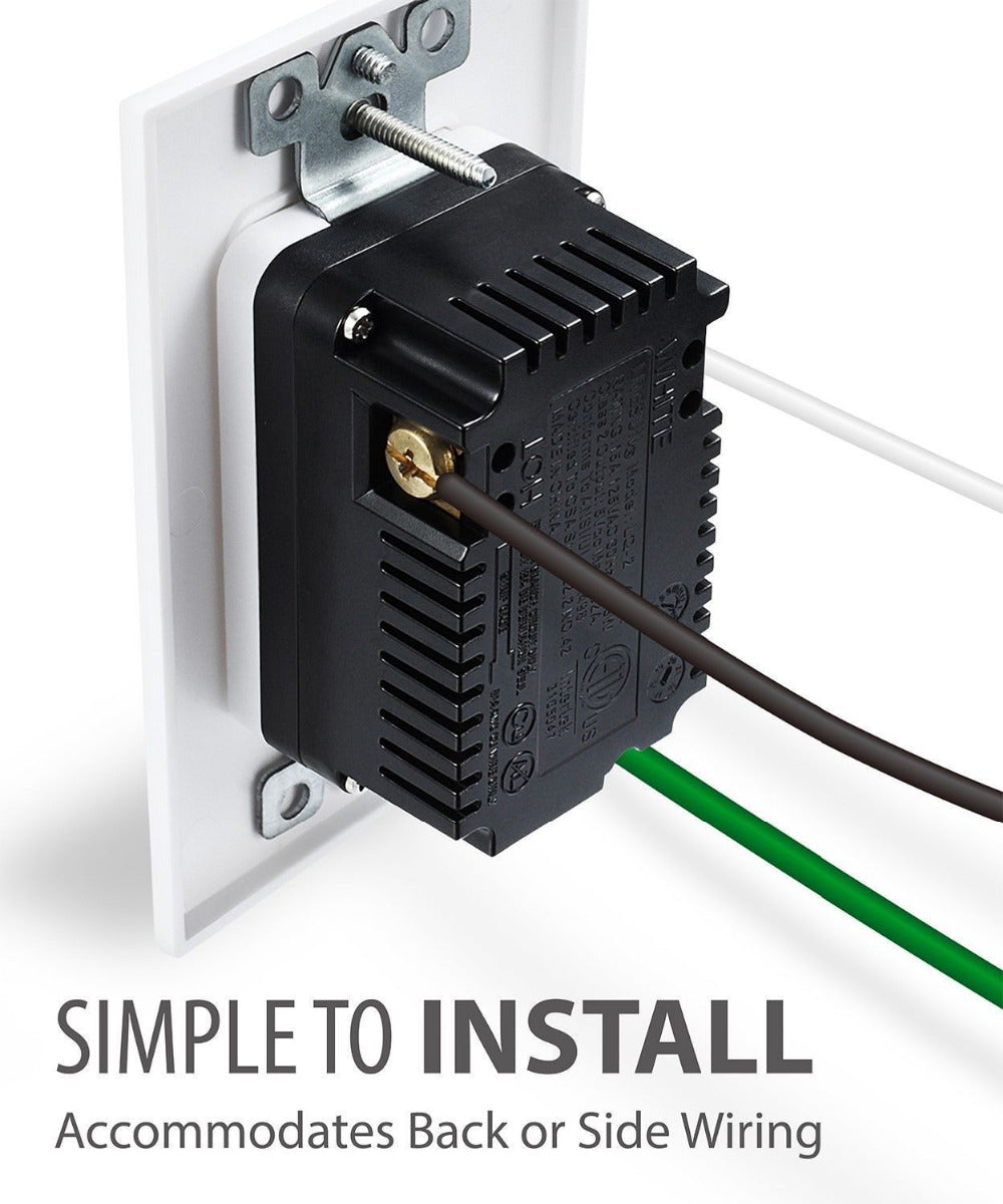 Us Electrical Wall Outlet With Dual Usb Connections Becktech Wiring A Plug