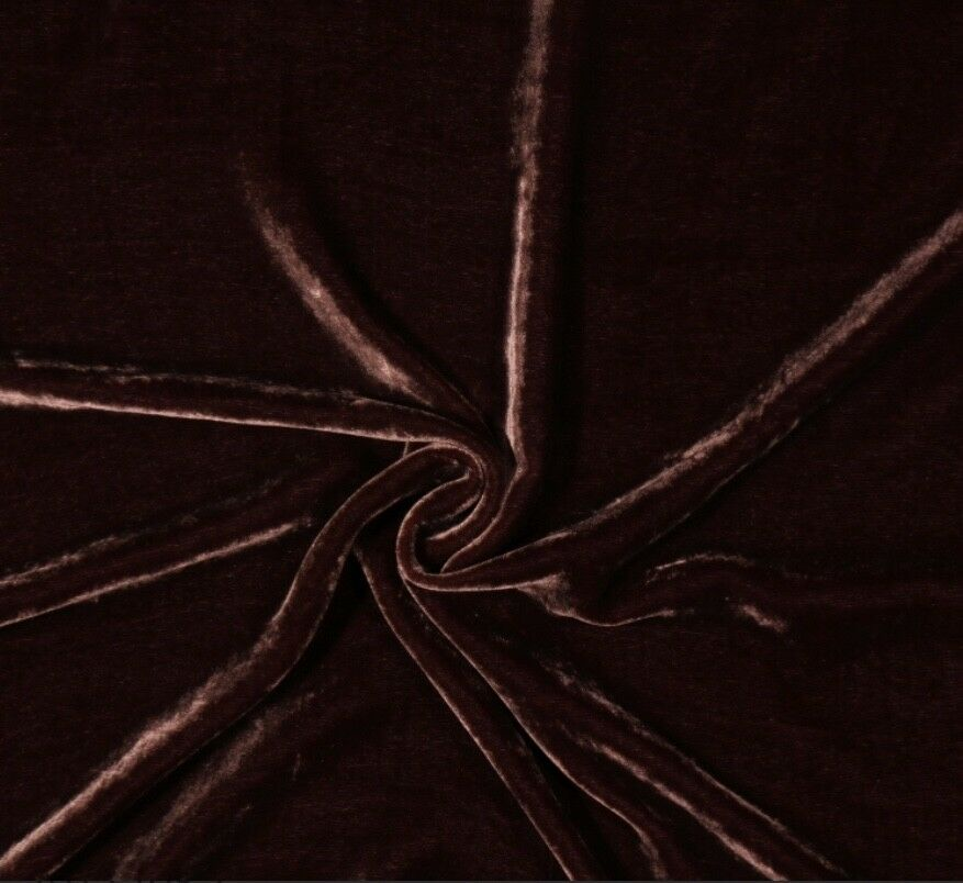 SALE! Designer Runway Chocolate Brown Silk Rayon Velvet Fabric By the yard