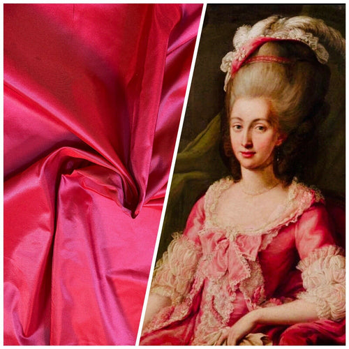 NEW Lady Lisa Designer 100% Silk Taffeta Fabric -Solid Fuchsia Pink