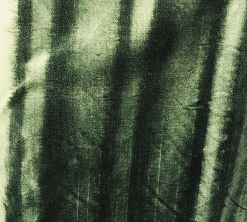 Novelty Italian Thick Upholstery Velvet Ombre Antique Inspired Fabric - Green
