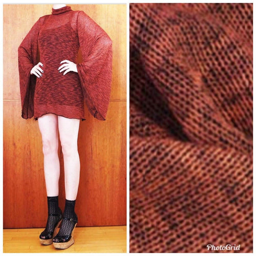 SALE! Close Out Designer Lightweight Rayon Slub Sweater Knit- Red Brick - Fancy Styles Fabric Boutique