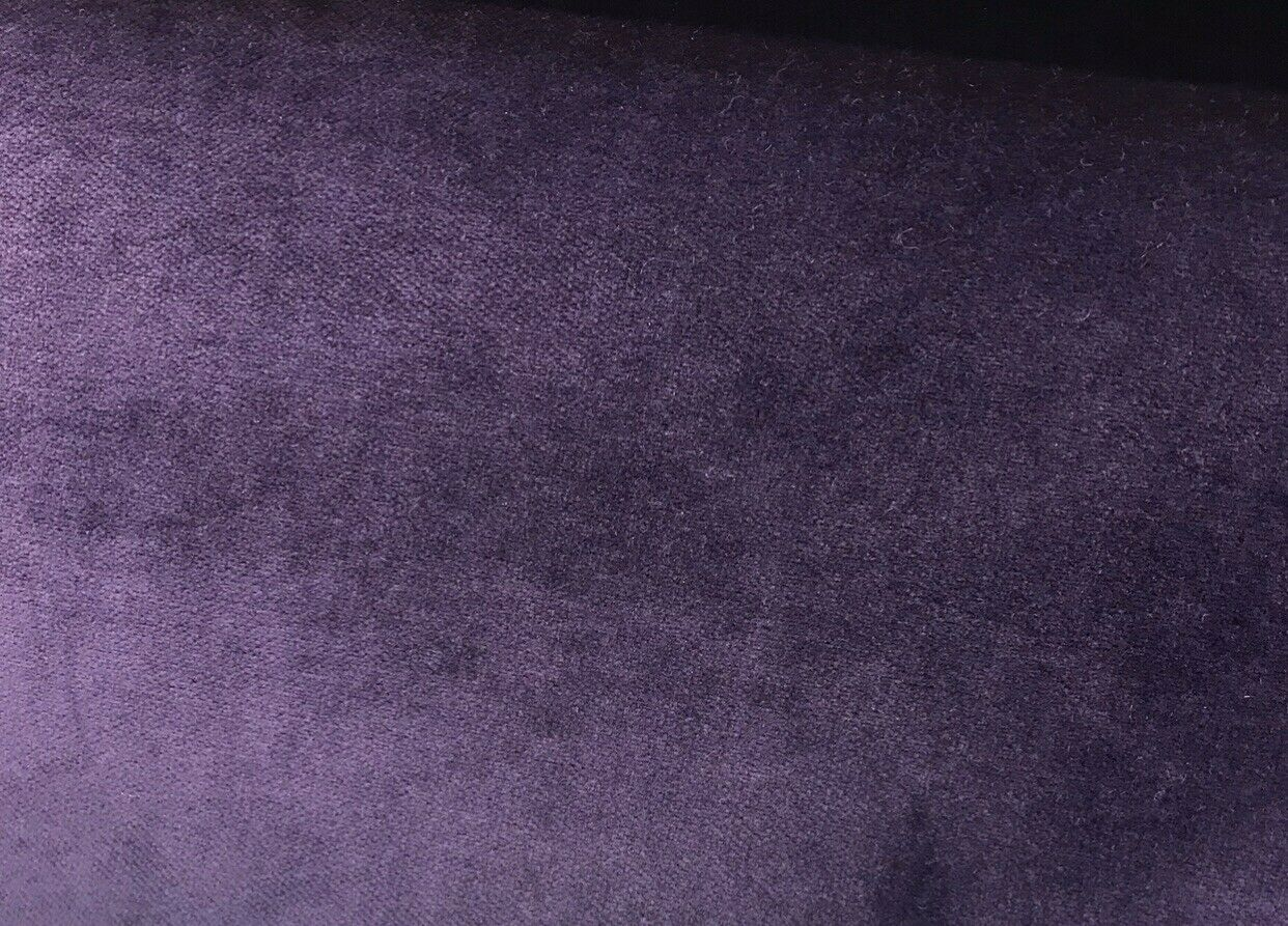 NEW! Designer Soft Heavy Weight Velvet Fabric -Plum Purple - Upholstery BTY