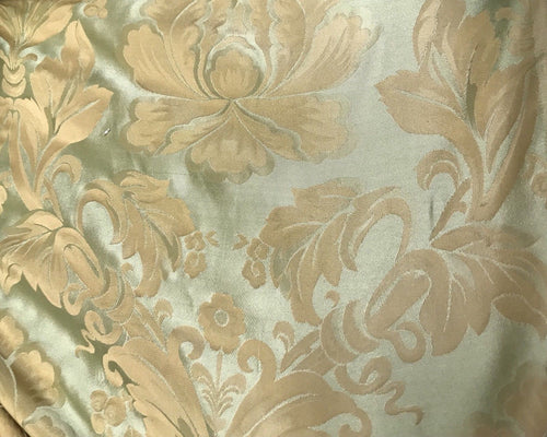 Designer 100% Silk Taffeta Satin Fabric- Electric Yellow And Green - Damask - Fancy Styles Fabric Pierre Frey Lee Jofa