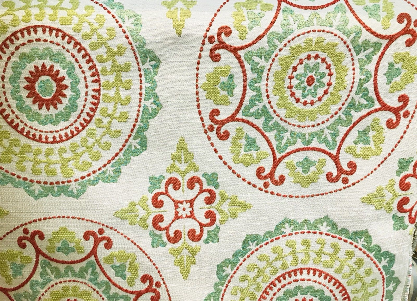 NEW! Suzani Linen Rayon Upholstery and Decorating Brocade Fabric - Fancy Styles Fabric Boutique