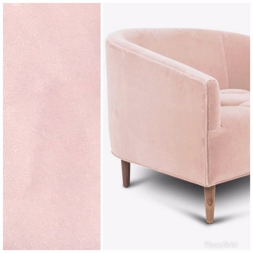 NEW Designer Soft Upholstery Velvet Fabric- Ballet Pink- Sold By The Yard - Fancy Styles Fabric Boutique