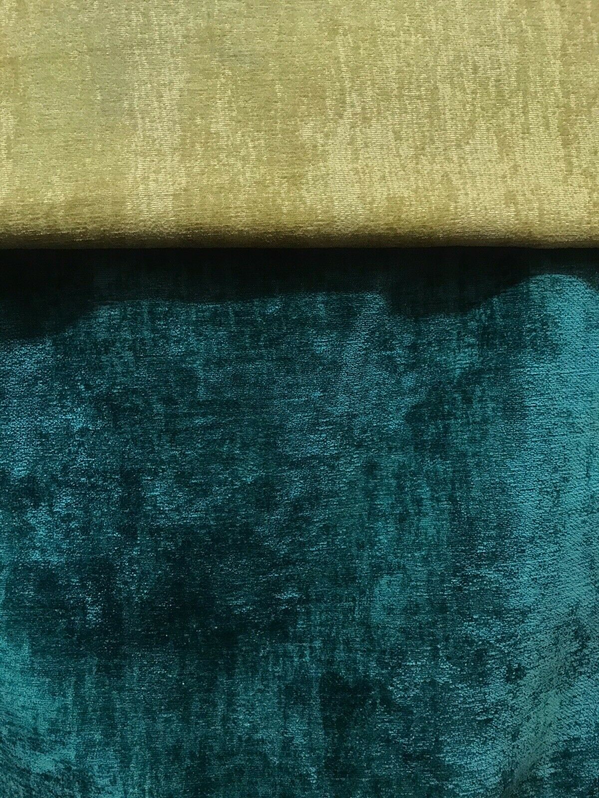 Designer Upholstery Thick And Soft Chenille Velvet Fabric - Teal BTY