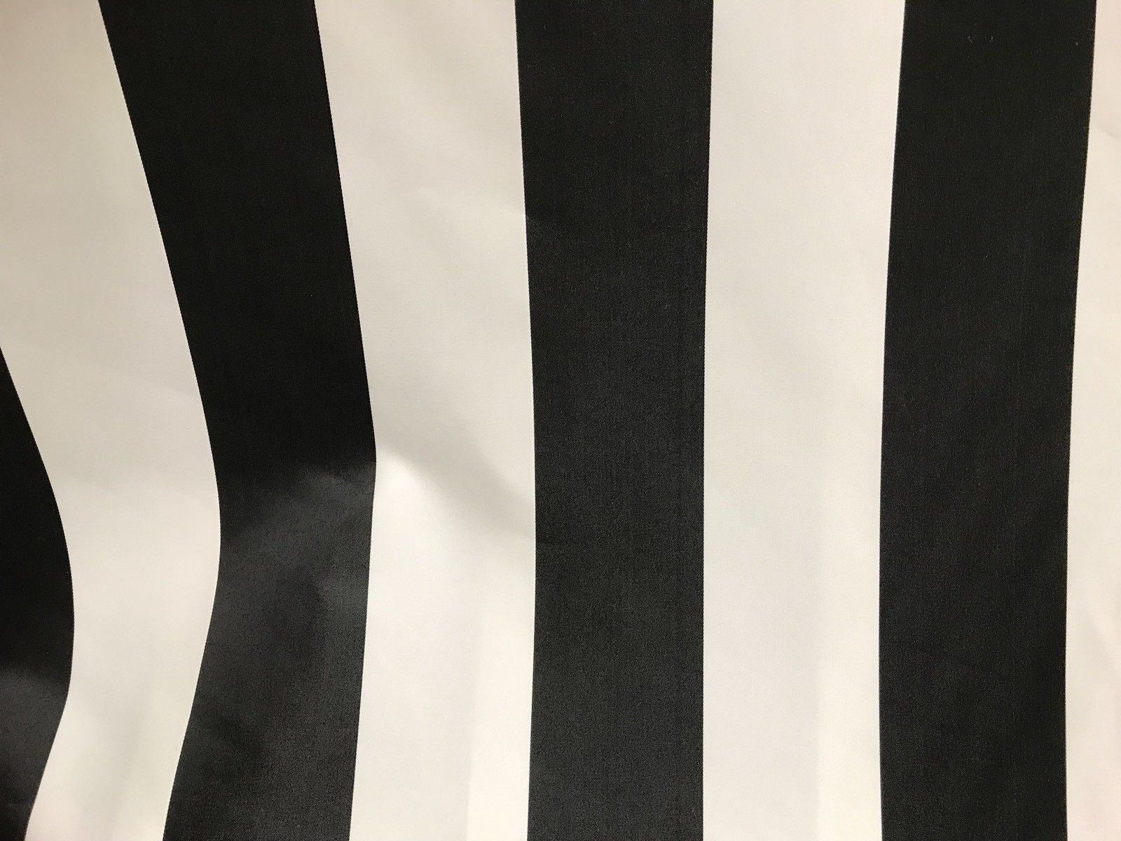 SWATCH Designer Satin Brocade Fabric - Black And White Stripes -  Upholstery - Fancy Styles Fabric Boutique