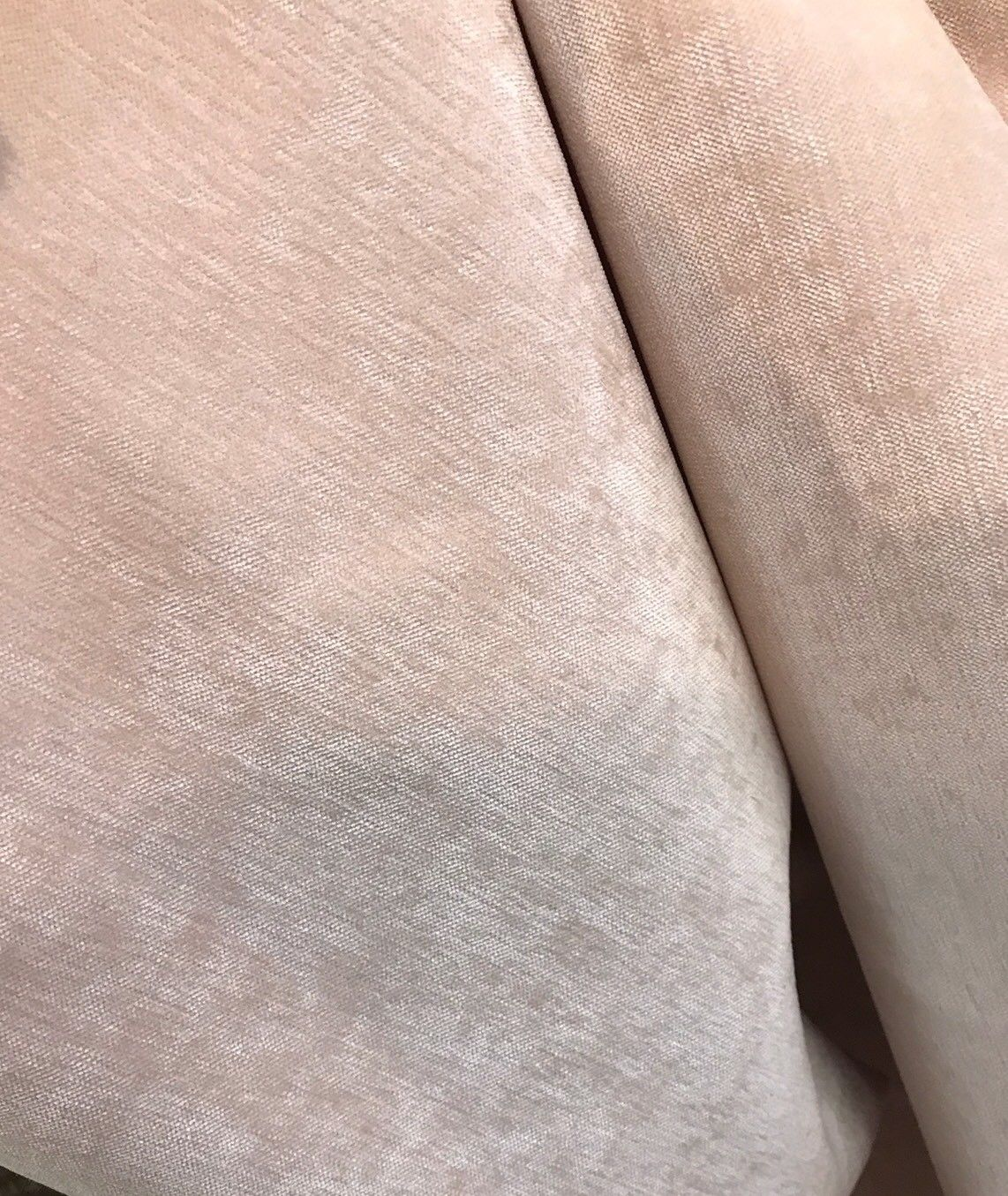 SWATCH -Designer Velvet Chenille Fabric - Ballet Pink - Upholstery - Fancy Styles Fabric Boutique