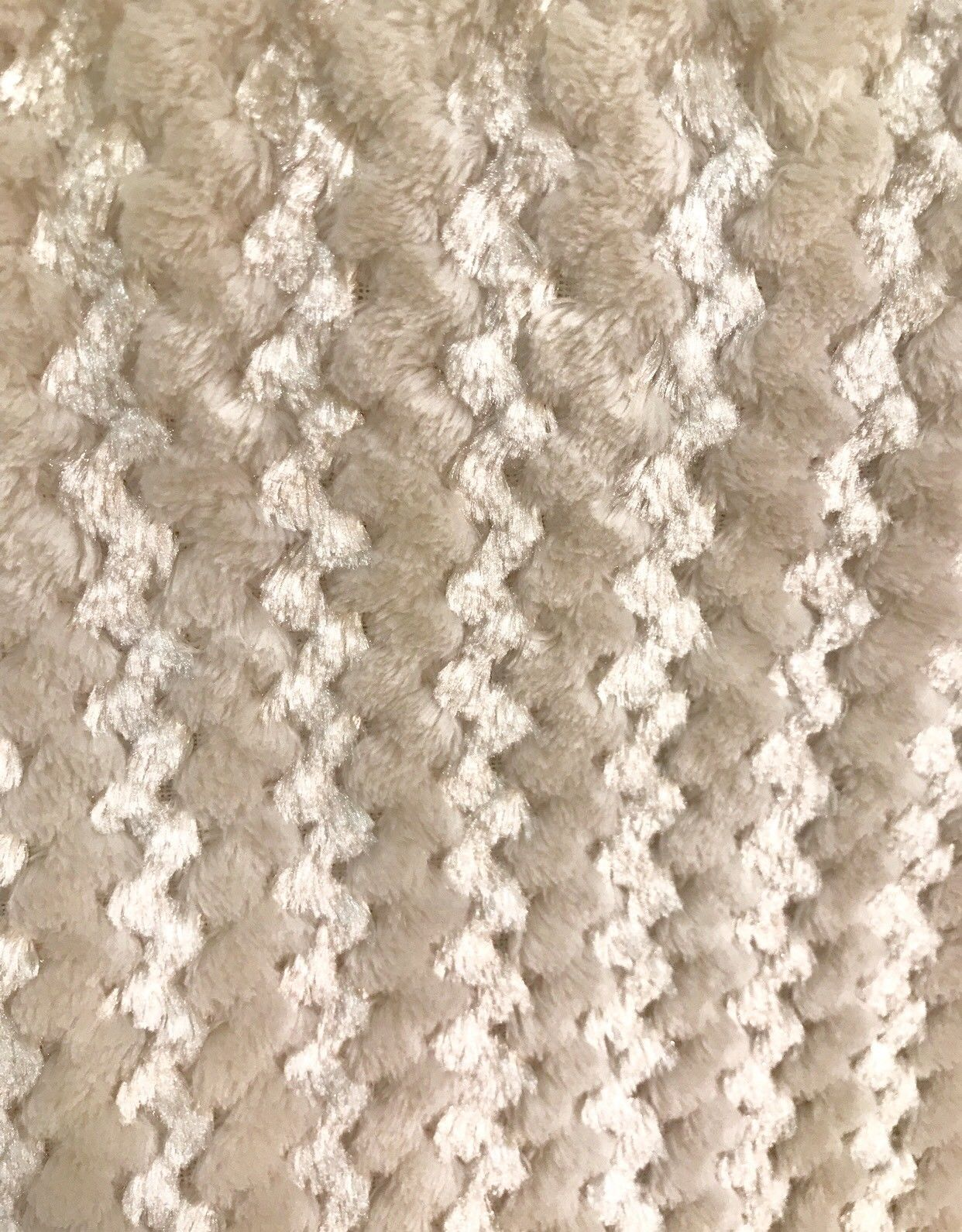 Designer Luxury Faux Fur Plush Fabric- Beige And Shell- Sold By The Yard - Fancy Styles Fabric Pierre Frey Lee Jofa Brunschwig & Fils