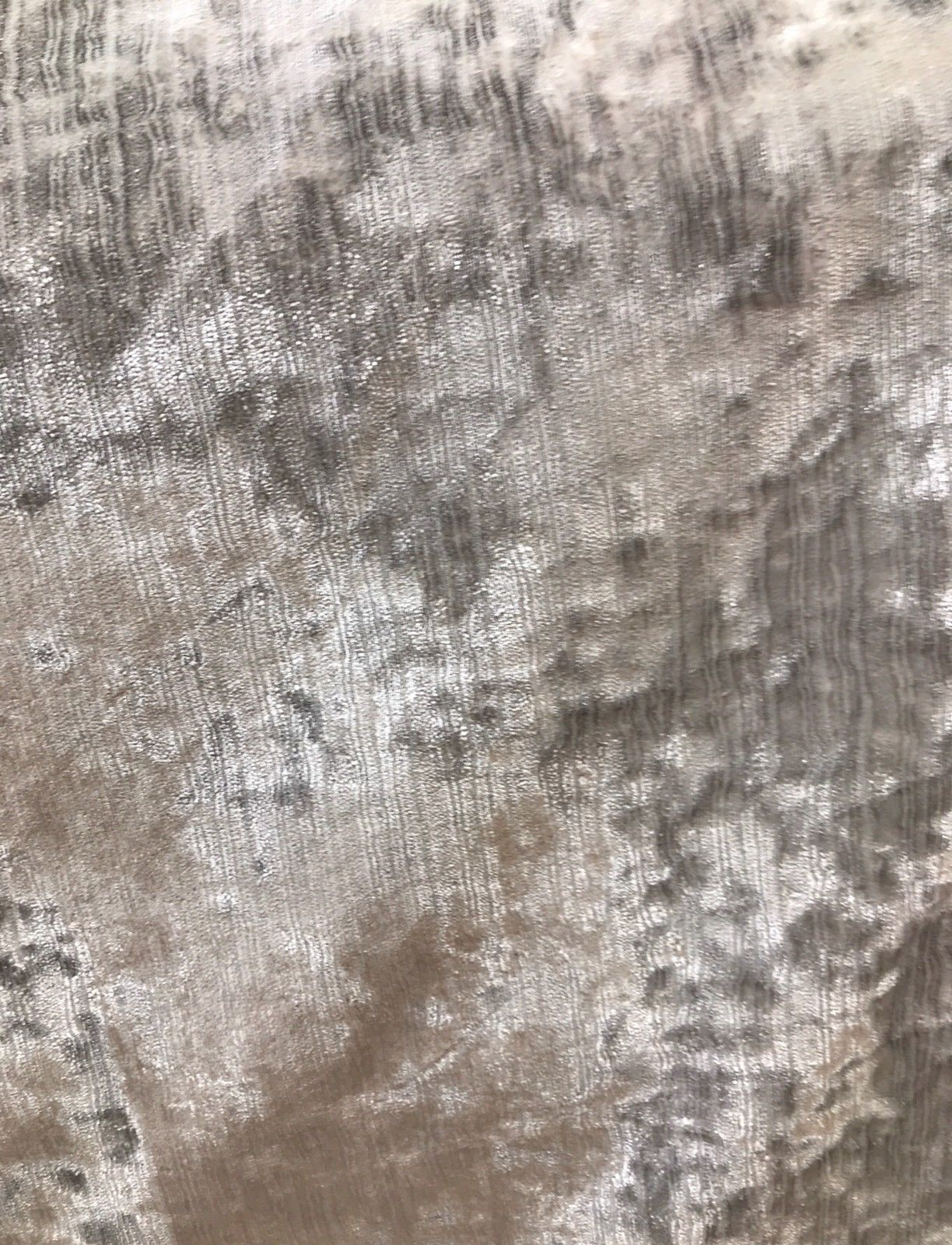 SWATCH- Designer Italian Crushed Velvet Chenille Upholstery Fabric - Silver Gray - Fancy Styles Fabric Boutique