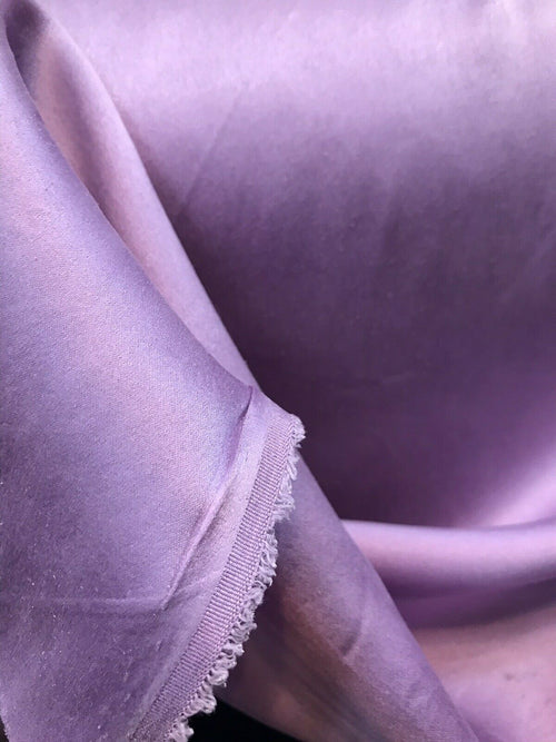 NEW Lavender Lilac Silk Stretch (Sueded) Sandwashed Charmeuse Fabric Sold by yard
