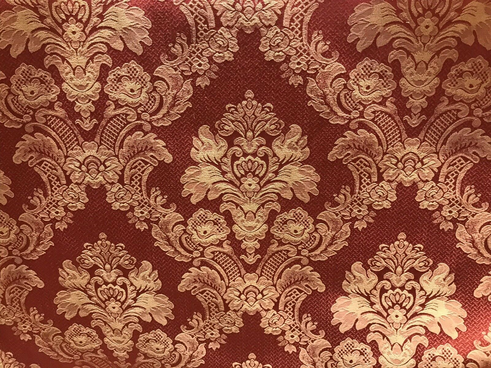 NEW SALE! Designer Brocade Jacquard Fabric- Floral- Upholstery- Red