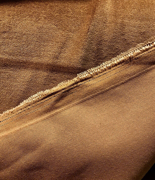 NEW! Designer Antique Inspired Velvet Fabric - Brown Cognac - Upholstery
