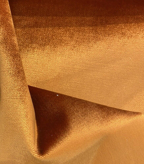 NEW Designer Made In Belgium Upholstery Velvet Fabric- Burnt Orange