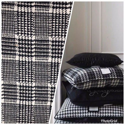 Designer Upholstery Heavyweight Tweed Fabric- Plaid Tartan BTY