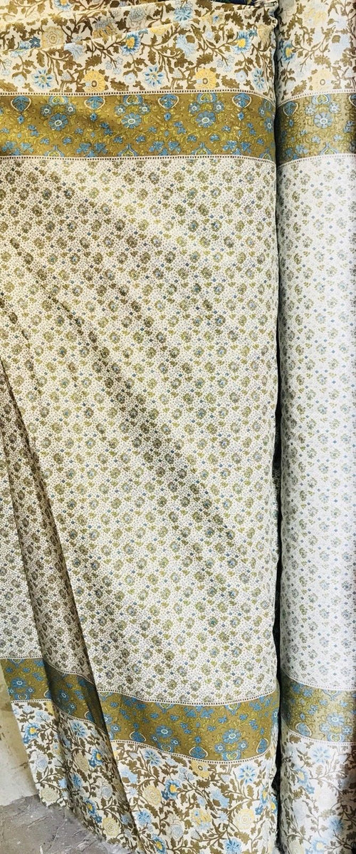 SALE! Designer 100% Cotton Fine Woven Bohemian Floral Olive Fabric- By the yard - Fancy Styles Fabric Boutique