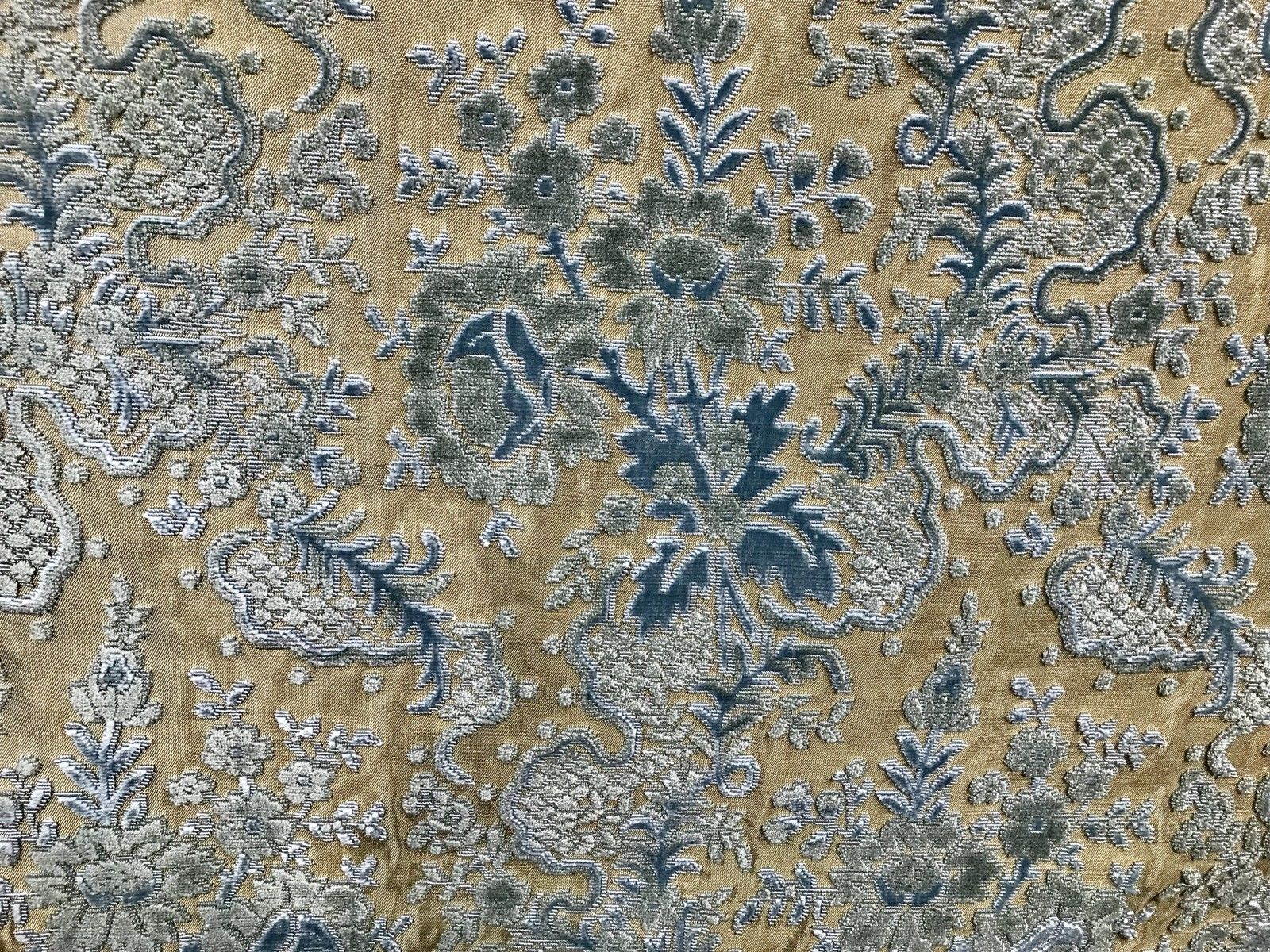 SWATCH Designer Italian Burnout Damask Chenille Velvet Fabric - Upholstery - Fancy Styles Fabric Boutique