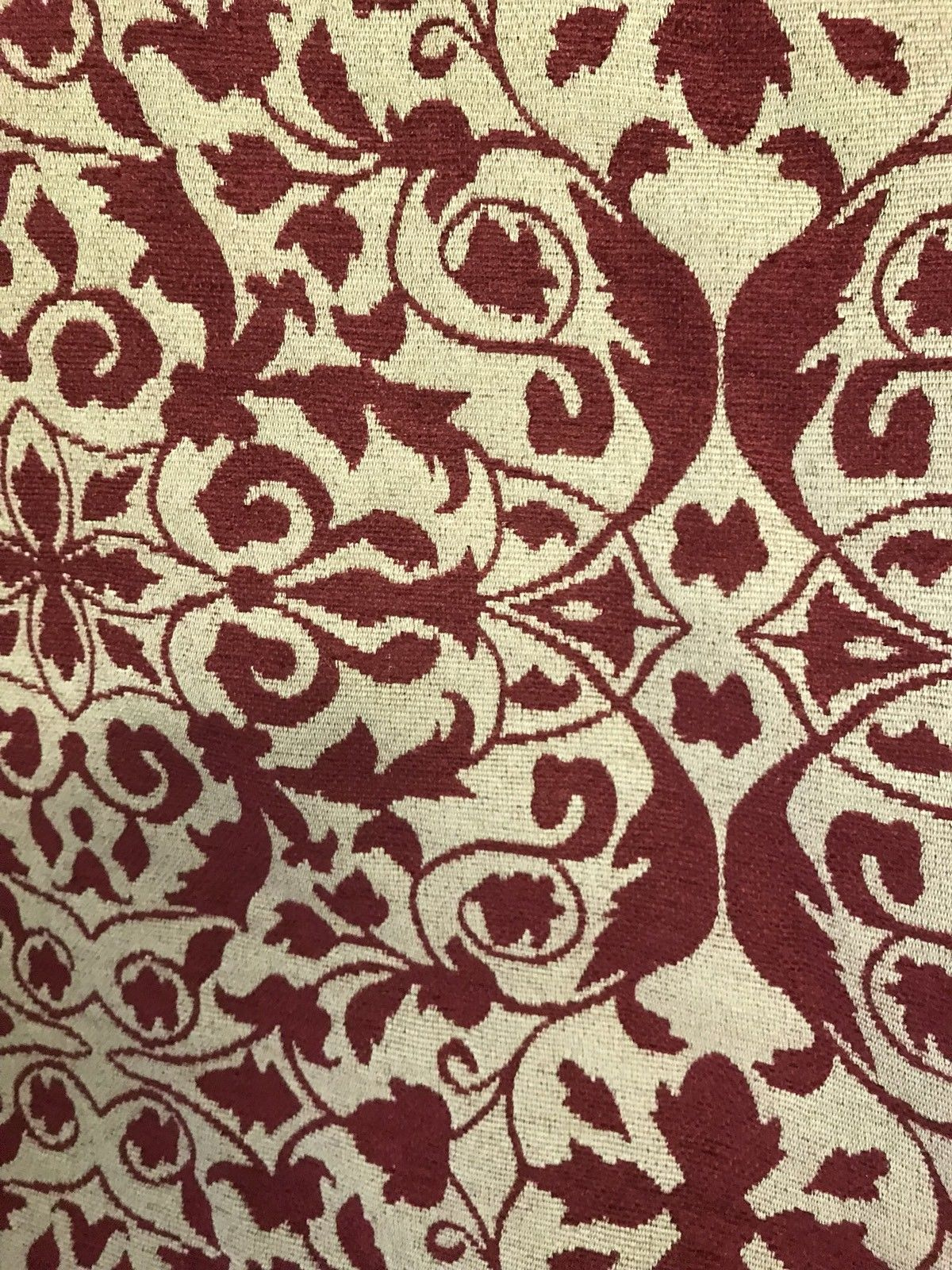 Designer Brocade Bohemian Upholstery Fabric - Red Flax- By The Yard - Fancy Styles Fabric Pierre Frey Lee Jofa