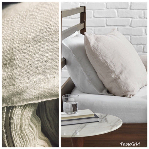 Fine Soft Linen Cotton Blend Woven Fabric By the yard- Color: Flax Natural - Fancy Styles Fabric Pierre Frey Lee Jofa Brunschwig & Fils