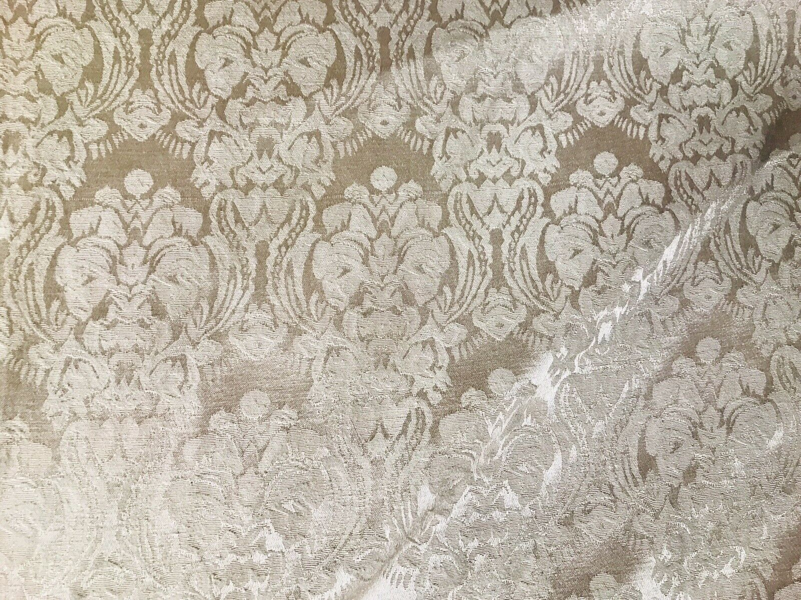 SALE Dophine Elena Designer Brocade Satin Damask Fabric- Antique Rose Gold- By The yard