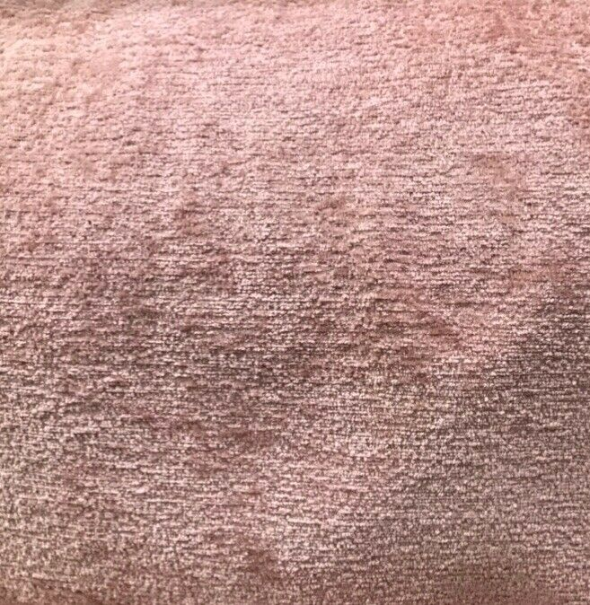 NEW! Luxury Heavyweight Upholstery Velvet Chenille Fabric - Shell Pink - BTY