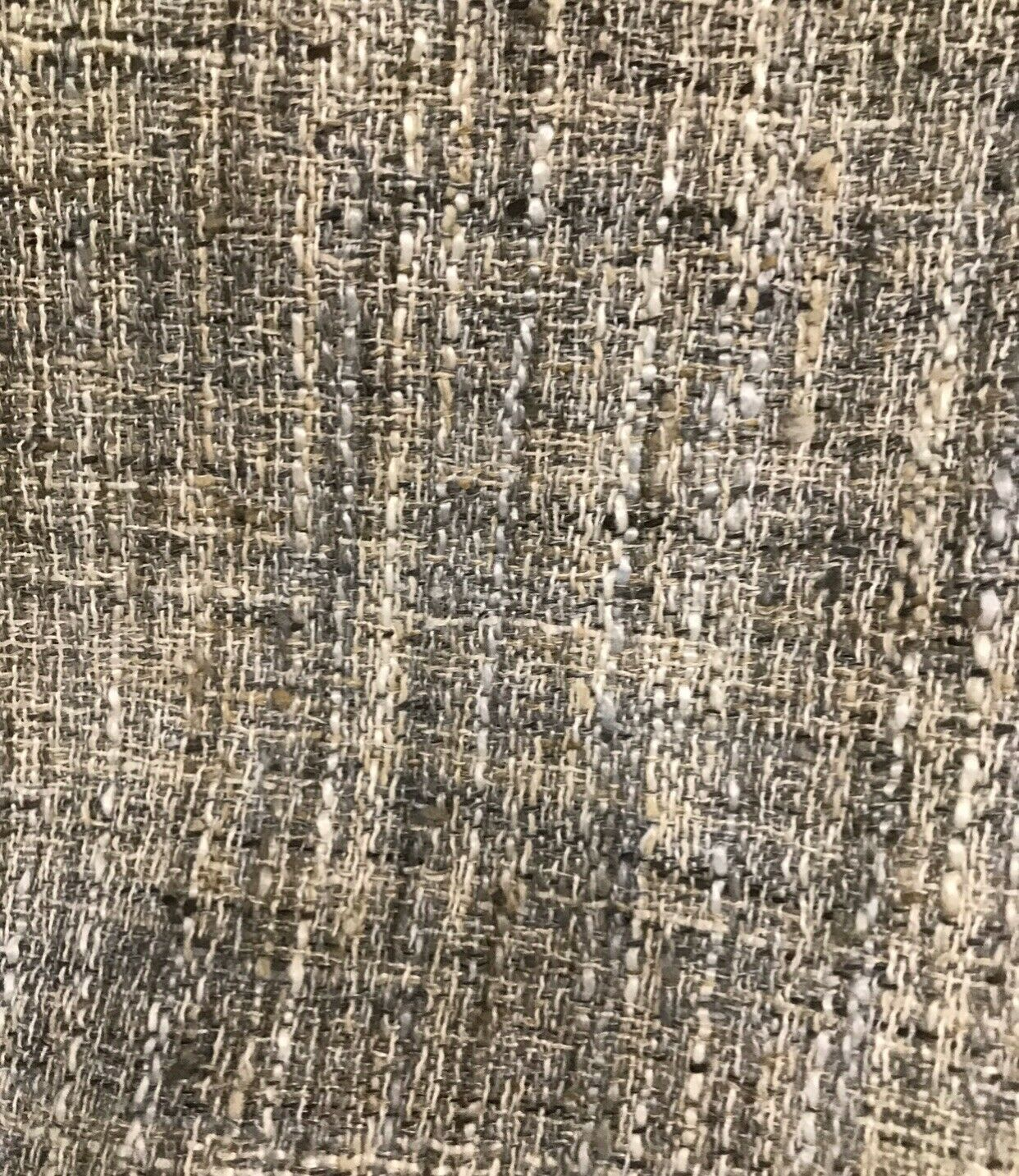 NEW Designer Upholstery Heavyweight Nubby Tweed Fabric- Natural Gray Brown