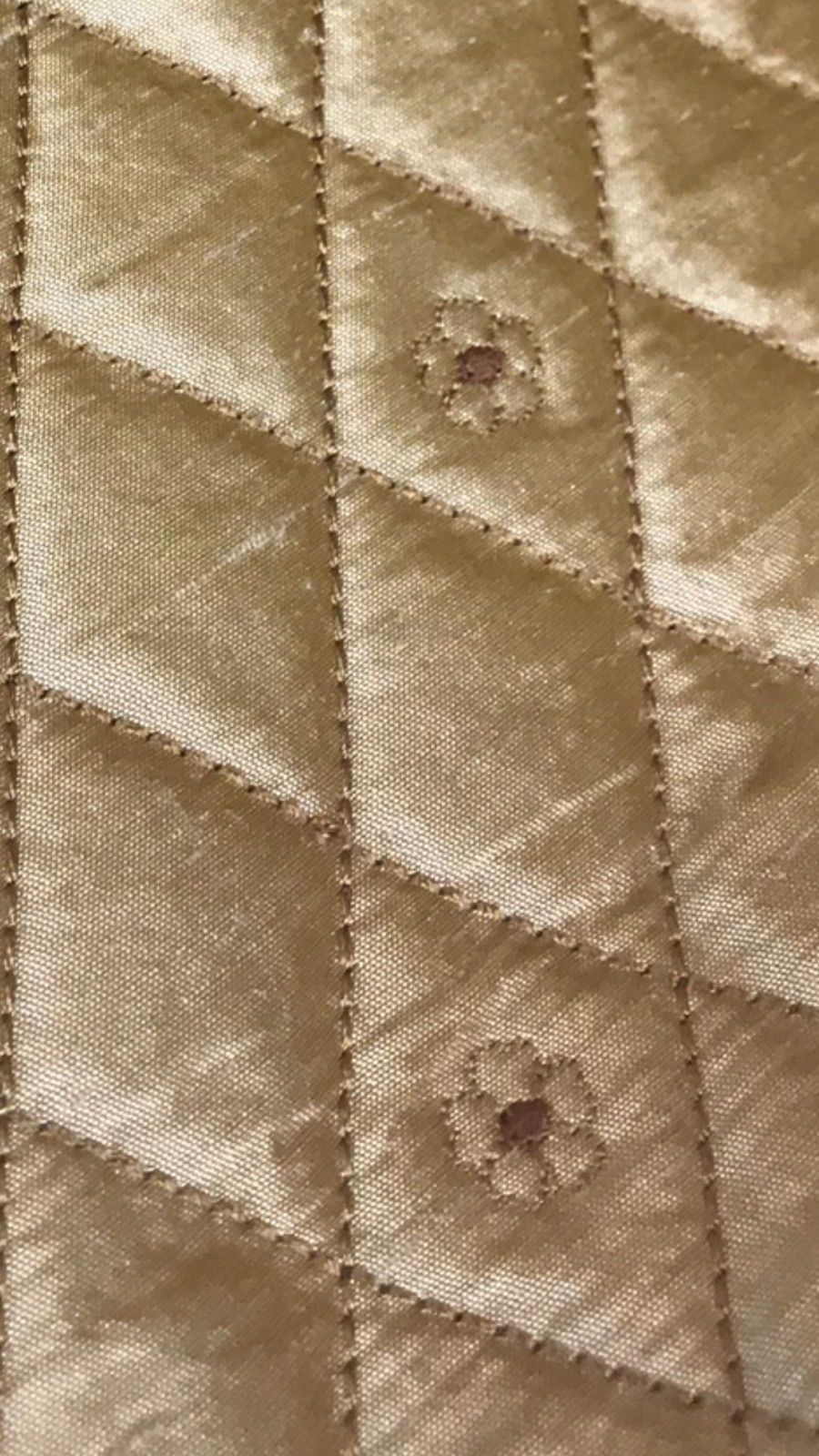 Imported Belgium 100% Silk Quilted Taffeta With Embroidery Fabric- Golden Honey - Fancy Styles Fabric Pierre Frey Lee Jofa Brunschwig & Fils