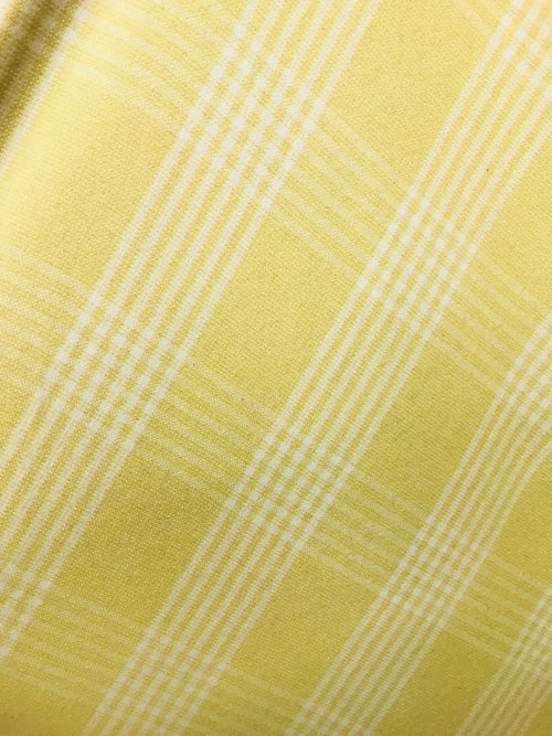 "Designer 100% Cashmere Woven Fabric - Made In Italy- Yellow Plaid-60"" Wide - Fancy Styles Fabric Pierre Frey Lee Jofa"
