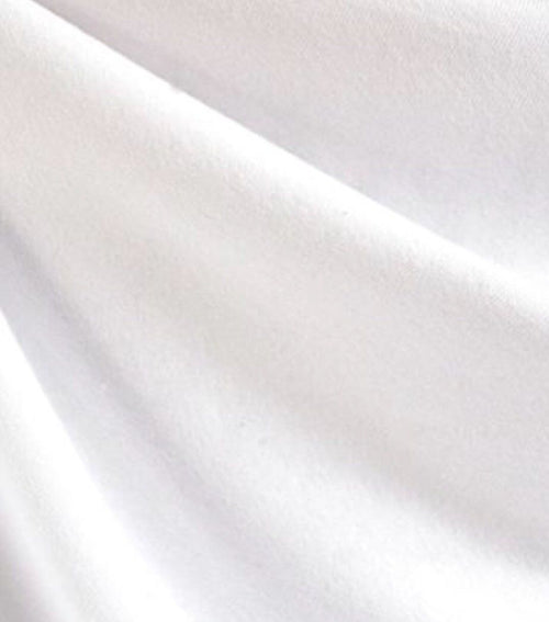 SALE! Designer 100% Cotton Lightweight Laundered French Terry Knit Fabric WHITE - Fancy Styles Fabric Boutique