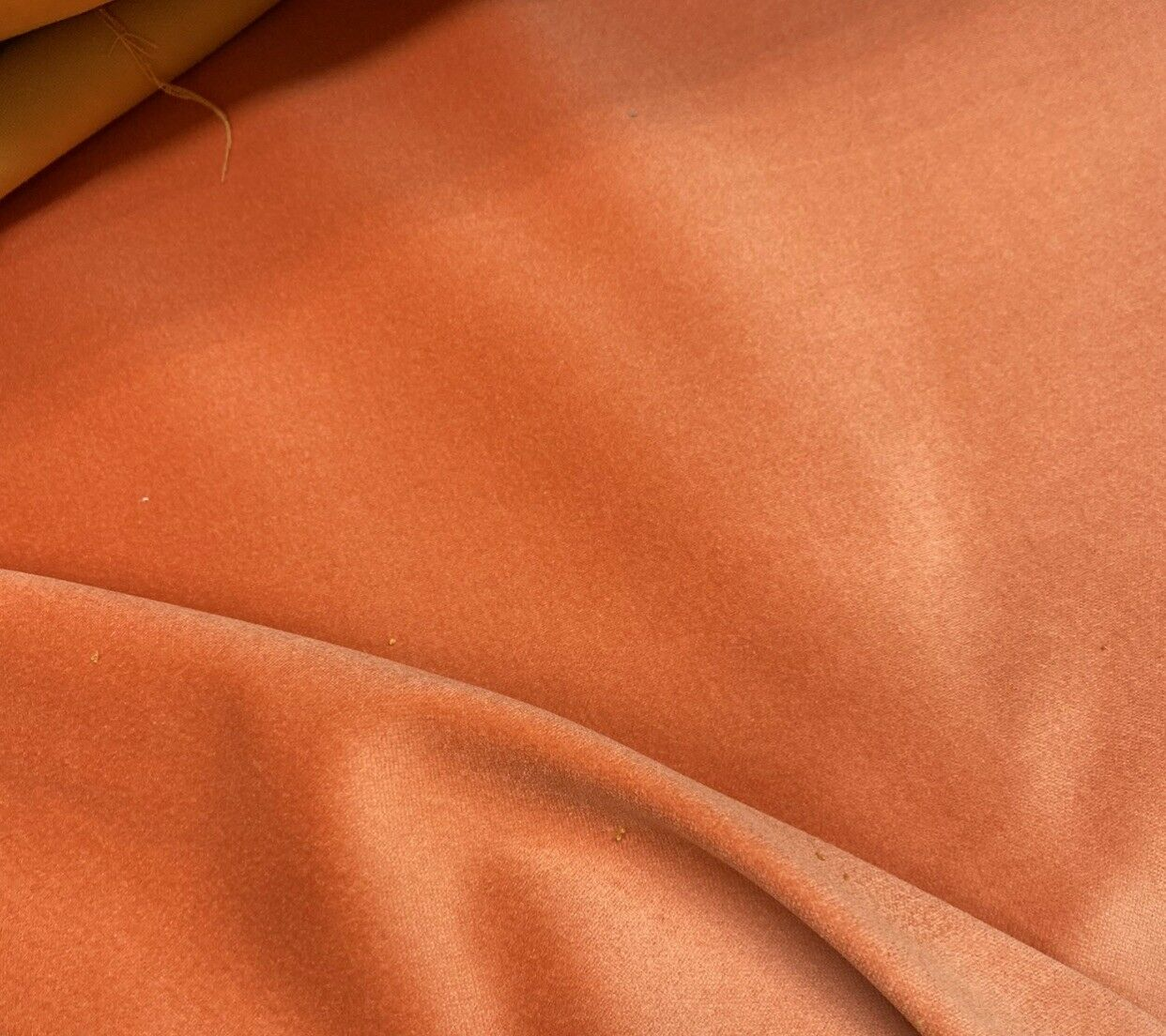 NEW! Prince Fabrielle - Designer Light Weight Cotton Velvet Upholstery Fabric - Soft- Coral Orange BTY