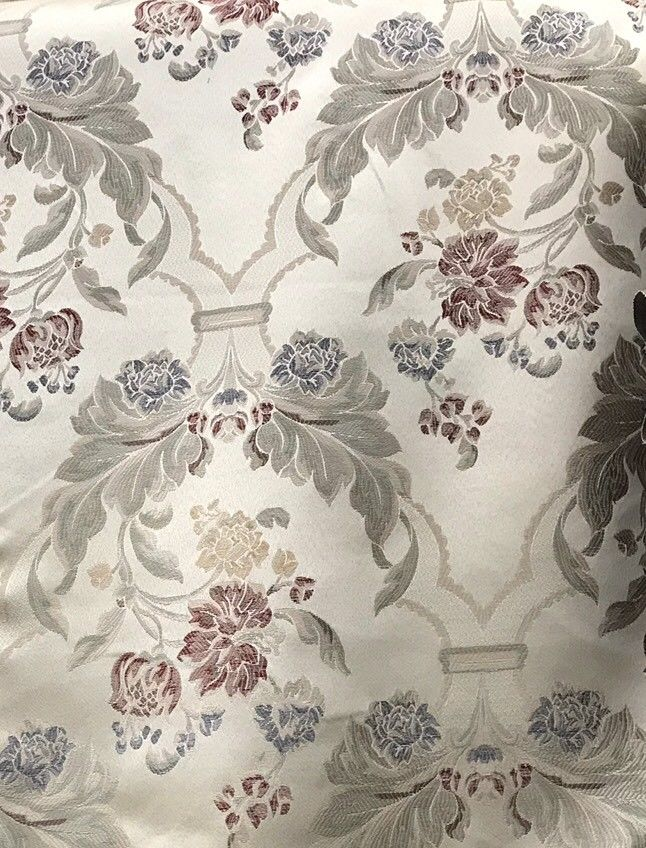 NEW! Designer Brocade Satin Fabric- Antique Ivory - Upholstery Damask - Fancy Styles Fabric Boutique