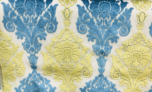 Designer Imported Belgium Burnout Damask Chenille Velvet Fabric Upholstery - Fancy Styles Fabric Pierre Frey Lee Jofa Brunschwig & Fils