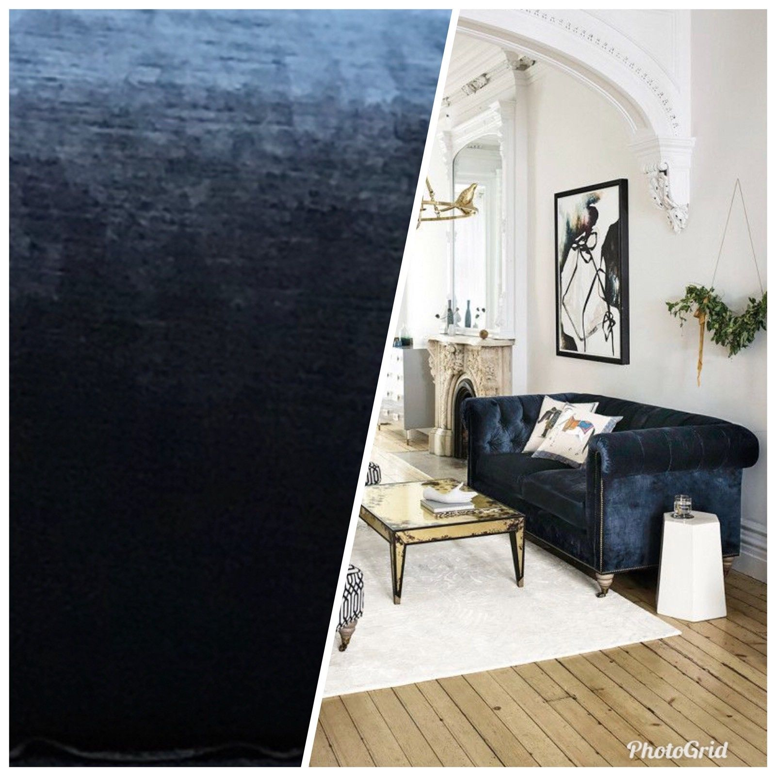 Designer Antique Inspired Velvet Fabric - Deep Sea Blue - Upholstery - Fancy Styles Fabric Pierre Frey Lee Jofa