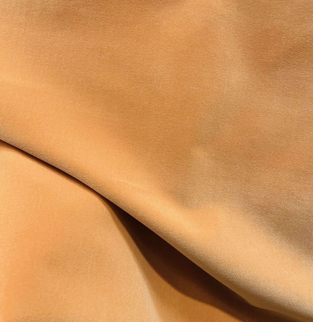 NEW! Prince Oliver - Designer 100% Cotton Made In Belgium Upholstery Velvet Fabric - Icy Pumpkin