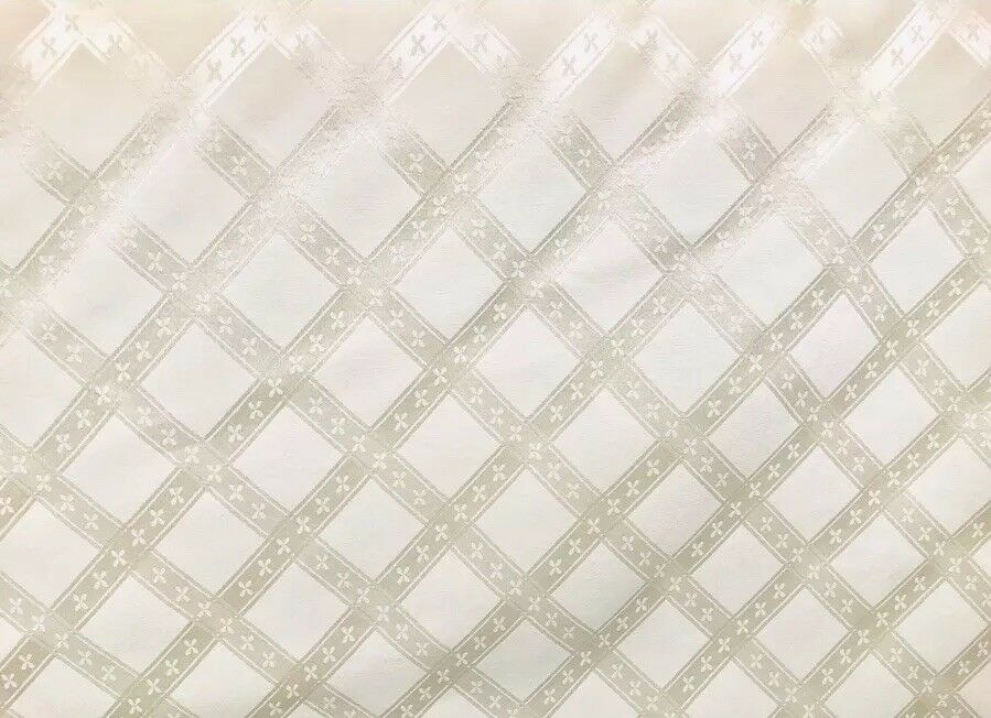 NEW SALE! Designer Brocade Drapery Fabric- Ivory- Upholstery Damask