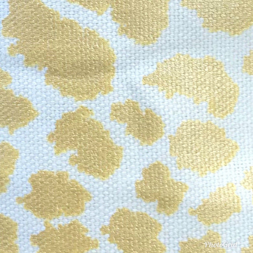 NEW 100% Cotton Designer Decorating Fabric- Gold Leopard On White - Fancy Styles Fabric Pierre Frey Lee Jofa Brunschwig & Fils