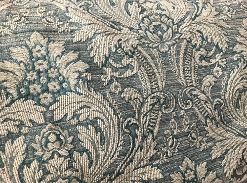 Designer Brocade Damask Fabric- Antique Pale Teal - Upholstery - Fancy Styles Fabric Pierre Frey Lee Jofa