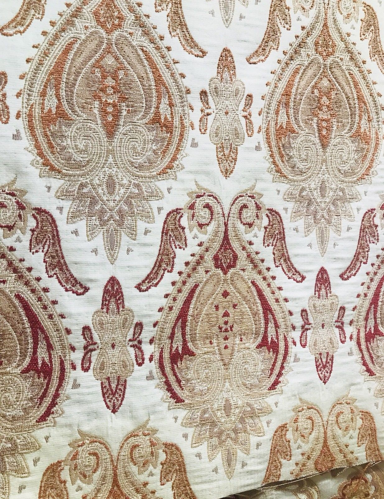 SWATCH Designer Brocade Damask Fabric - Antique Floral - Upholstery - Fancy Styles Fabric Boutique