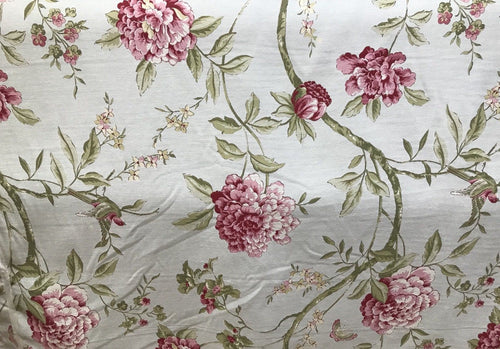 Designer Cotton Blend French Floral Tapestry Inspired Decorating Fabric - Fancy Styles Fabric Pierre Frey Lee Jofa