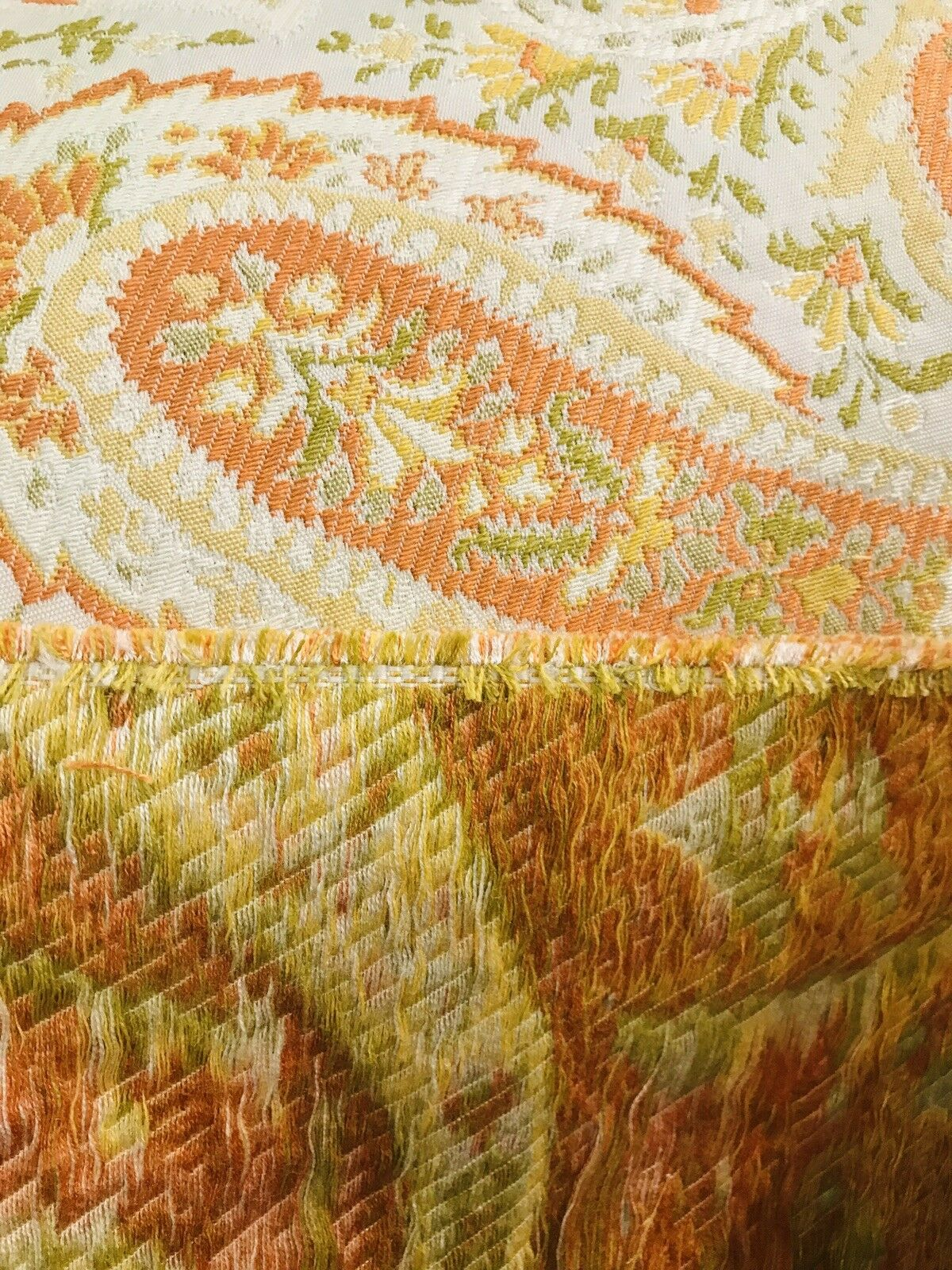 NEW Designer Brocade Paisley Heavy Weight Upholstery Fabric- Orange