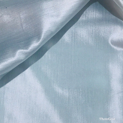 NEW! Designer Velvet Upholstery Fabric - Antique Ultra Light Blue- BTY