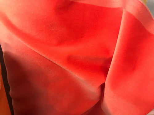 NEW Belgium Velvet Upholstery Fabric - Soft Orange Coral- By The Yard